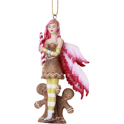 Gingerbread Fairy Hanging Ornament