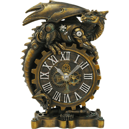 Steampunk Dragon Clock