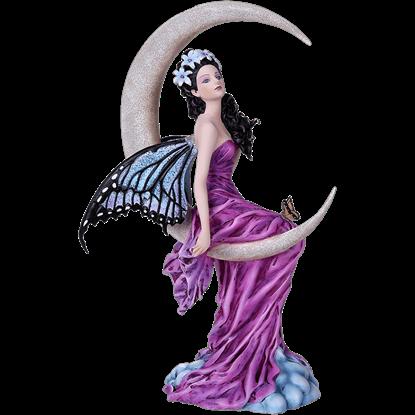 Amethyst Moon Fairy Statue