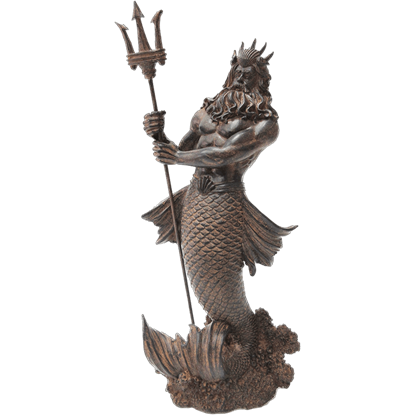 Antiqued Poseidon Statue