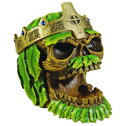 Greenman King Skull Ashtray