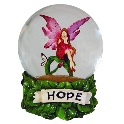 Hope Water Globe by Amy Brown