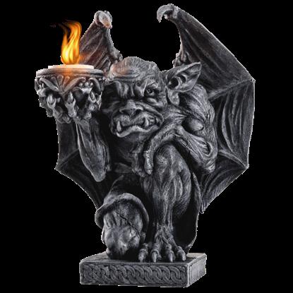 Crouching Gargoyle Candleholder