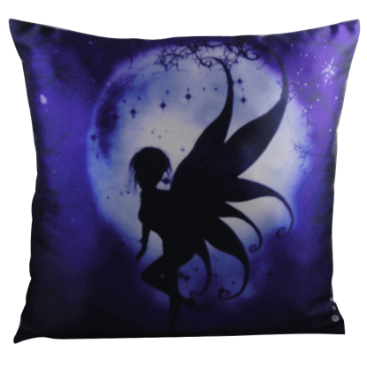 Indigo Fairy Pillow by Julie Fain