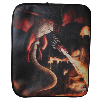 Incineration Dragon Laptop Sleeve by Tom Wood