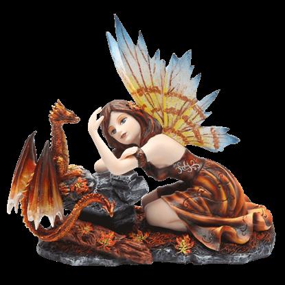 Autumn Fairy with Dragon Statue