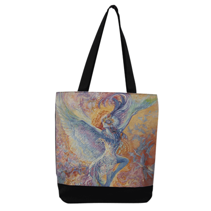 Blue Bird Tote Bag by Josephine Wall