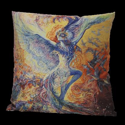 Blue Bird Pillow by Josephine Wall
