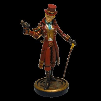 Dapper Steampunk Lady Statue
