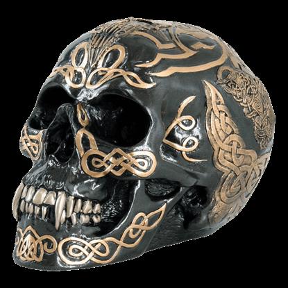 Black Celtic Skull