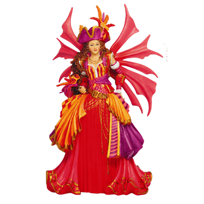 Colorful Pirate Faery Statue
