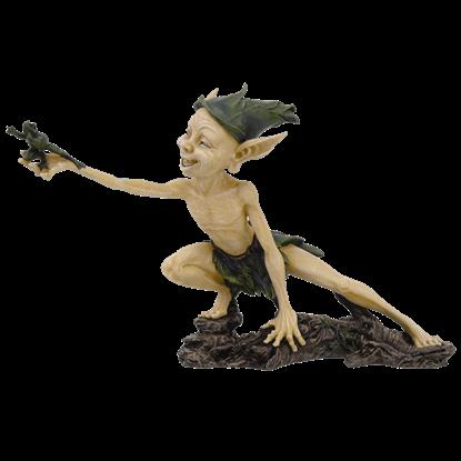 Garden Goblin and Frog Statue