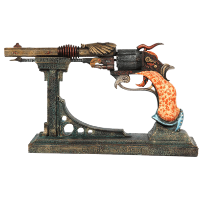 Captains Nemo Steampunk Pistol and Stand