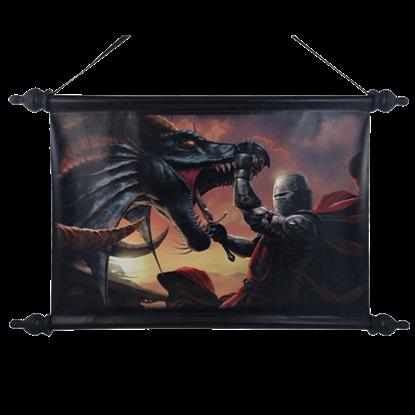 Dragon Slayer Art Scroll