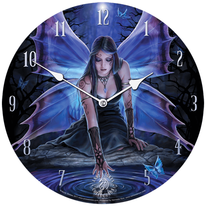 Immortal Flight Wall Clock by Anne Stokes