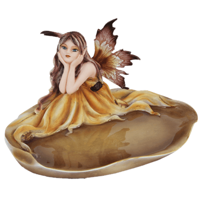 Autumn Fairy Jewelry Dish