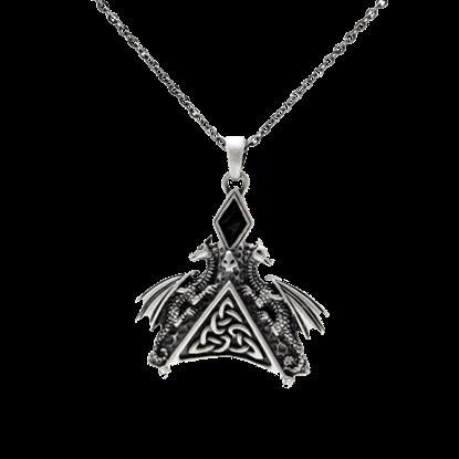 Celtic Double Dragon Necklace