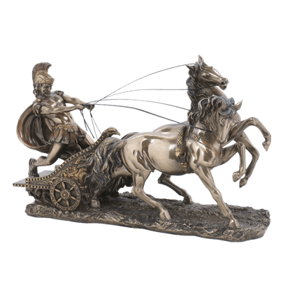 Bronze Roman Chariot Statue