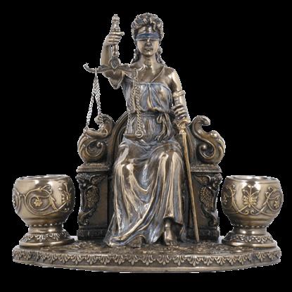 La Justicia Candle Holder