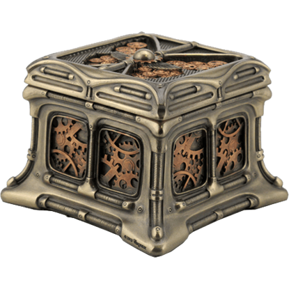 Bronze and Copper Steampunk Butterfly Trinket Box