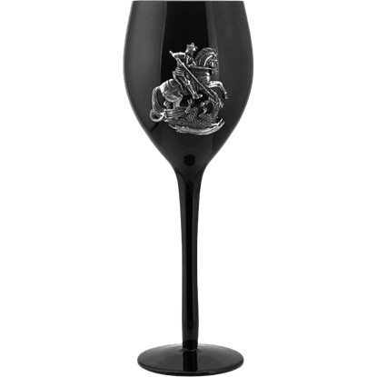 St. George and the Dragon Wine Glass