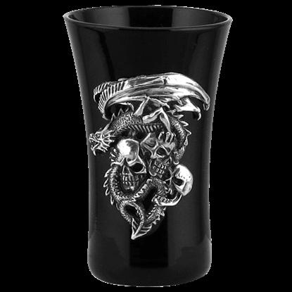 Dragon and Skulls Shot Glass