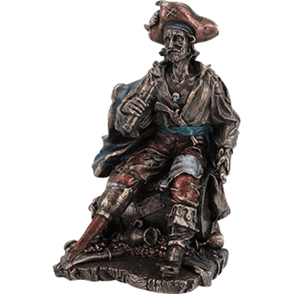 Bronze Pirate on a Barrel Statue