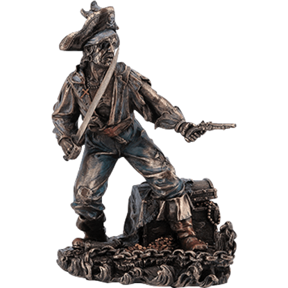 Bronze Pirate on Guard Statue