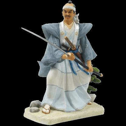 Japanese Samurai Wielding Nagamaki