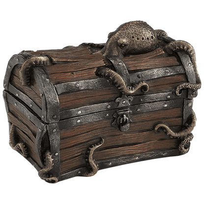 Octopus in Treasure Chest Trinket Box