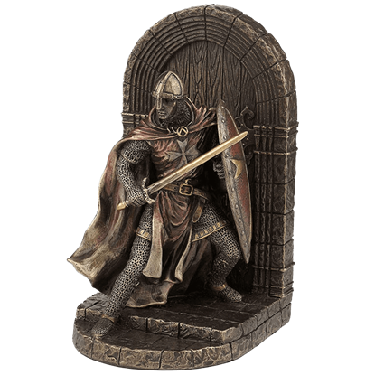 Norman Crusader Guarding Door Bookend
