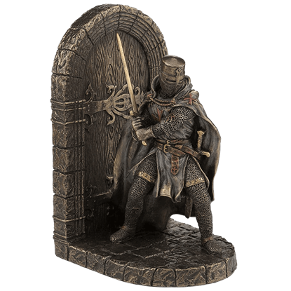 Great Helm Crusader Guarding Door Bookend