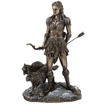 Bronze Skadi Goddess of Winter Statue