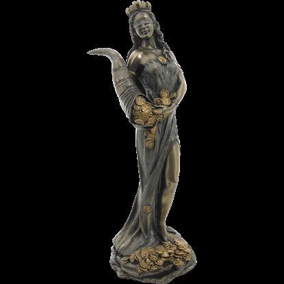 Bronze Goddess Fortuna Statue