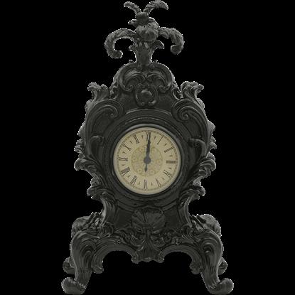 Black Baroque Mantel Clock
