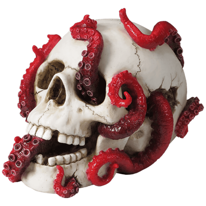 Abyss Lurks Within Skull Statue