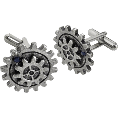 Empire Spur Gear Steampunk Cufflinks
