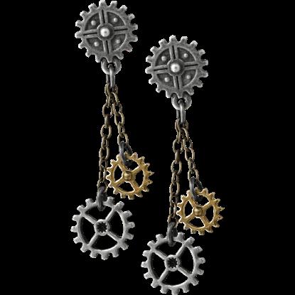 Machine Head Drop Earrings