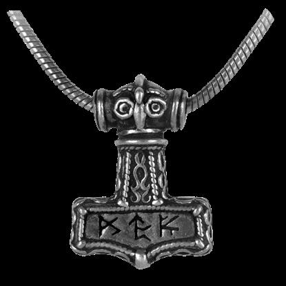 Bindrune Hammer Necklace