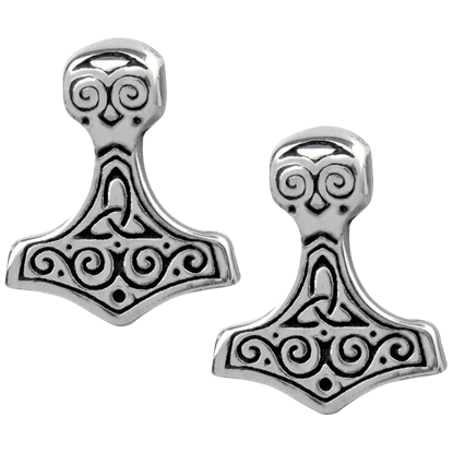Thor Hammer Earrings