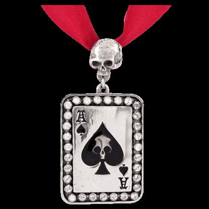 Glittering Ace of Spades Choker