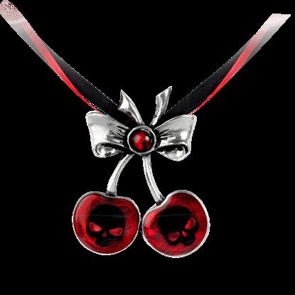 Black Cherry Skull Necklace