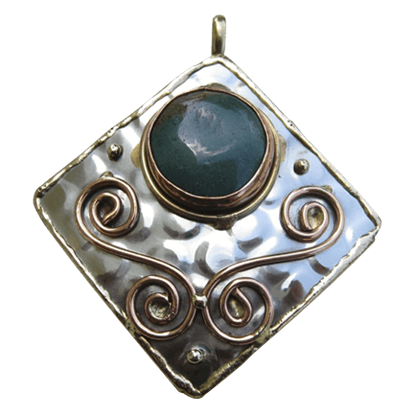 Mixed Metal Scrollwork Necklace