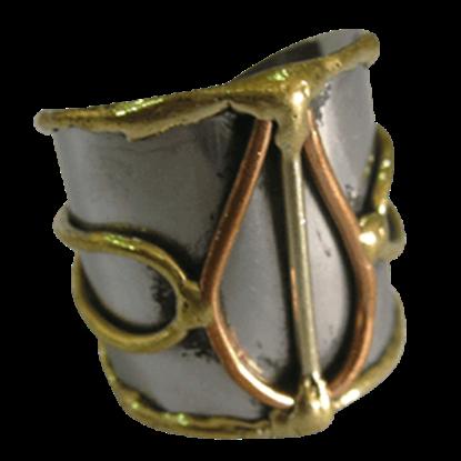 Mixed Metal Bulb Cuff Ring