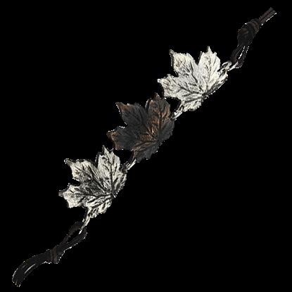Alternating Antiqued Maple Leaf Bracelet