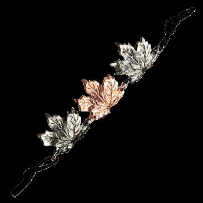 Alternating Silver and Copper Maple Leaf Bracelet