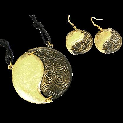 Brass Yin Yang Jewelry Set