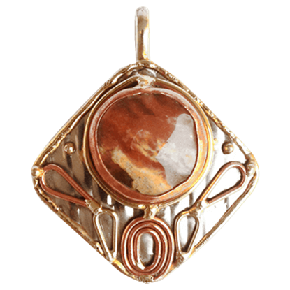 Copper Stone Pendant