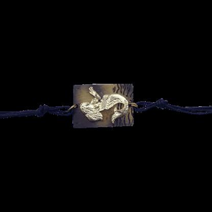 Brass Mermaid Toggle Bracelet