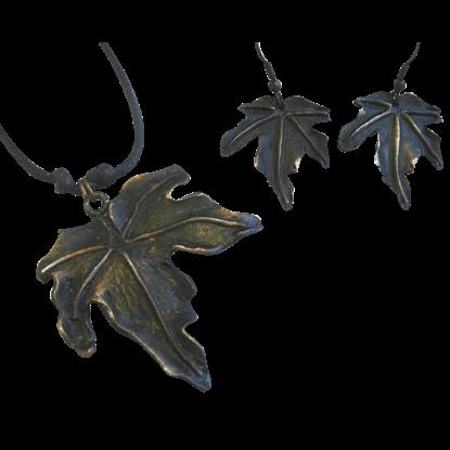 Antique Copper Leaf Jewelry Set